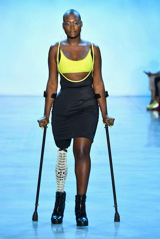 Mama Cax walks the runway for the Chromat show during New York Fashion Week on Sept. 7. (Photo: Getty Images)