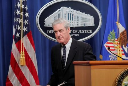 FILE PHOTO: U.S. Special Counsel Mueller departs after speaking about Russia investigation at the Justice Department in Washington