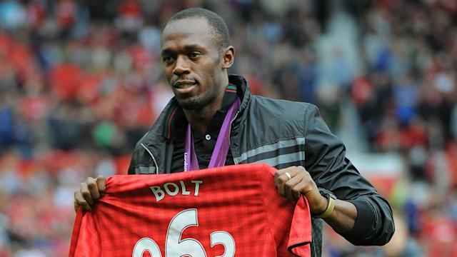 Usain Bolt was among the happy callers on Manchester United's TV station after a late win over Middlesbrough in the Premier League.