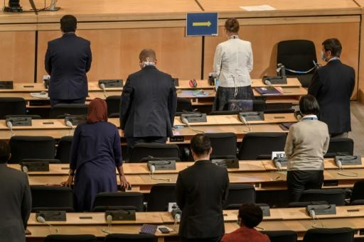 The urgent UN Human Rights Council debate began with a minute of silence for George Floyd