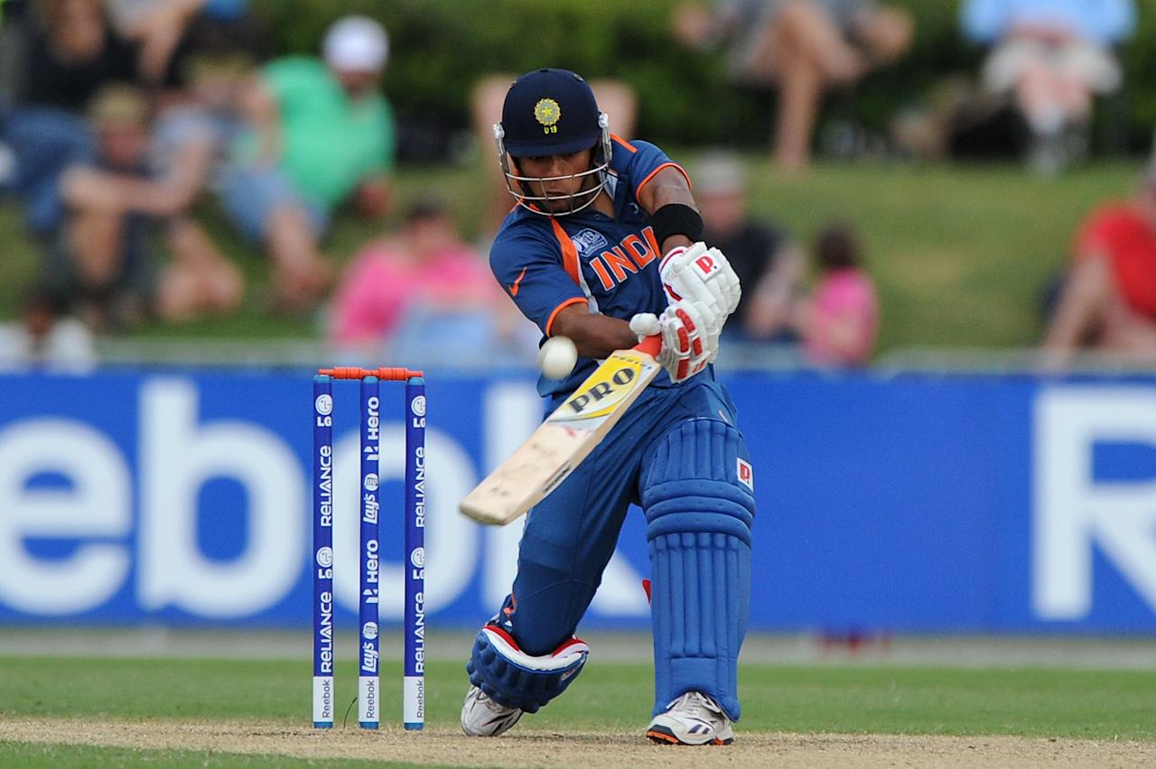 TOWNSVILLE, AUSTRALIA - AUGUST 26:  Unmukt Chand of India bats during the 2012 ICC U19 Cricket World Cup Final between Australia and India at Tony Ireland Stadium on August 26, 2012 in Townsville, Australia.  (Photo by Matt Roberts/Getty Images)