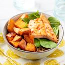 <p>Harissa adds Moroccan flavor to this healthy grain bowl recipe without needing a long list of ingredients. Just 5 ingredients is all you need to get dinner (or a packable lunch) on the table in under an hour!</p>