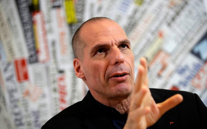 The former Greek finance minister spoke at the Foreign Press Club in Rome - AP