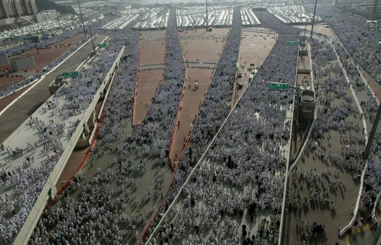"""A deadly stampede broke out at the Jamarat bridge in Mina, Saudi Arabia, where Muslim pilgrims carry out the ritual of """"stoning the devil"""""""