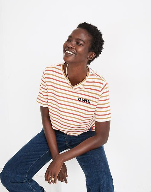 <p>We love the bright and colorful style of this <span>Madewell x Kule O Well Graphic Striped Modern Tee</span> ($50, originally $68).</p>