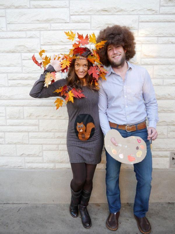 """<p>You and your partner could bring one of TV's most beloved characters to life with this creative Bob Ross and painting costume.</p><p><em><strong><a href=""""https://www.creatingreallyawesomefunthings.com/diy-family-halloween-costume/"""" rel=""""nofollow noopener"""" target=""""_blank"""" data-ylk=""""slk:Get the tutorial at C.R.A.F.T."""" class=""""link rapid-noclick-resp"""">Get the tutorial at C.R.A.F.T.</a></strong></em></p><p><a class=""""link rapid-noclick-resp"""" href=""""https://www.amazon.com/Ross-Beard-Mustache-Adult-Sizes/dp/B079PYJYJ9/?tag=syn-yahoo-20&ascsubtag=%5Bartid%7C10070.g.28589425%5Bsrc%7Cyahoo-us"""" rel=""""nofollow noopener"""" target=""""_blank"""" data-ylk=""""slk:SHOP WIG"""">SHOP WIG</a></p>"""