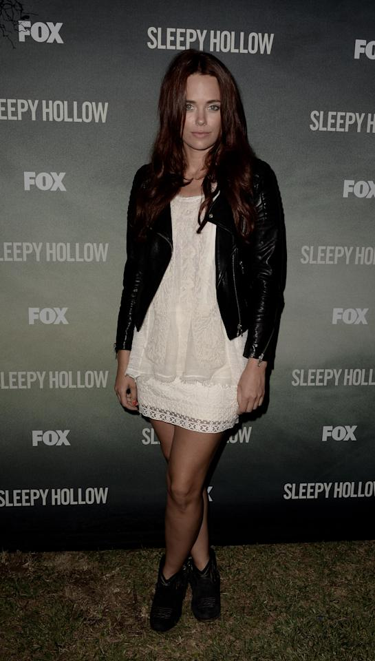 "LOS ANGELES, CA - SEPTEMBER 08: Actress Katia Winter arrives at a special screening of 20th Century Fox Television's ""Sleepy Hollow"" at the Hollywood Forever Cemetery on September 8, 2013 in Los Angeles, California. (Photo by Kevin Winter/Getty Images)"