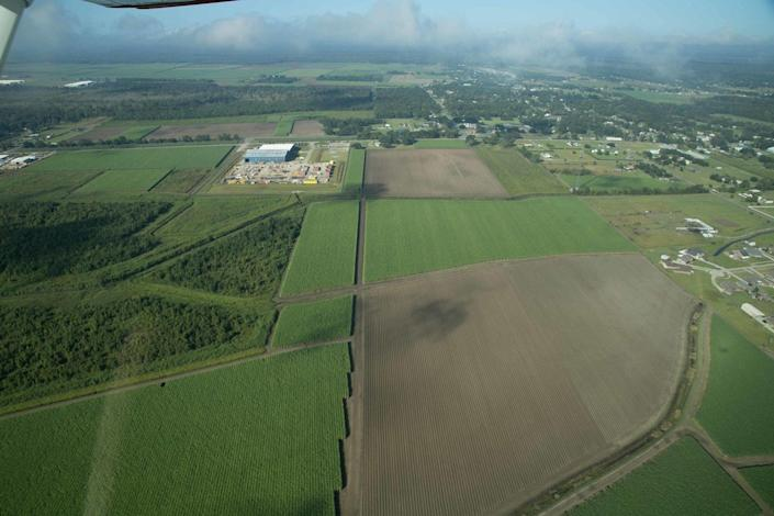 The planned site of the resettlement community for Isle de Jean Charles residents in Schriever, La.