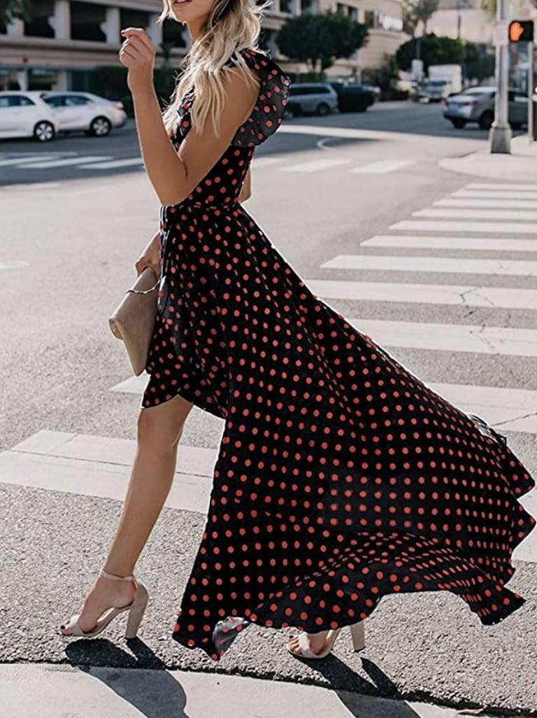 <p>Take this <span>Grecerelle Floral Print Cross V Neck Maxi Dress</span> ($19) on your next getaway.</p>