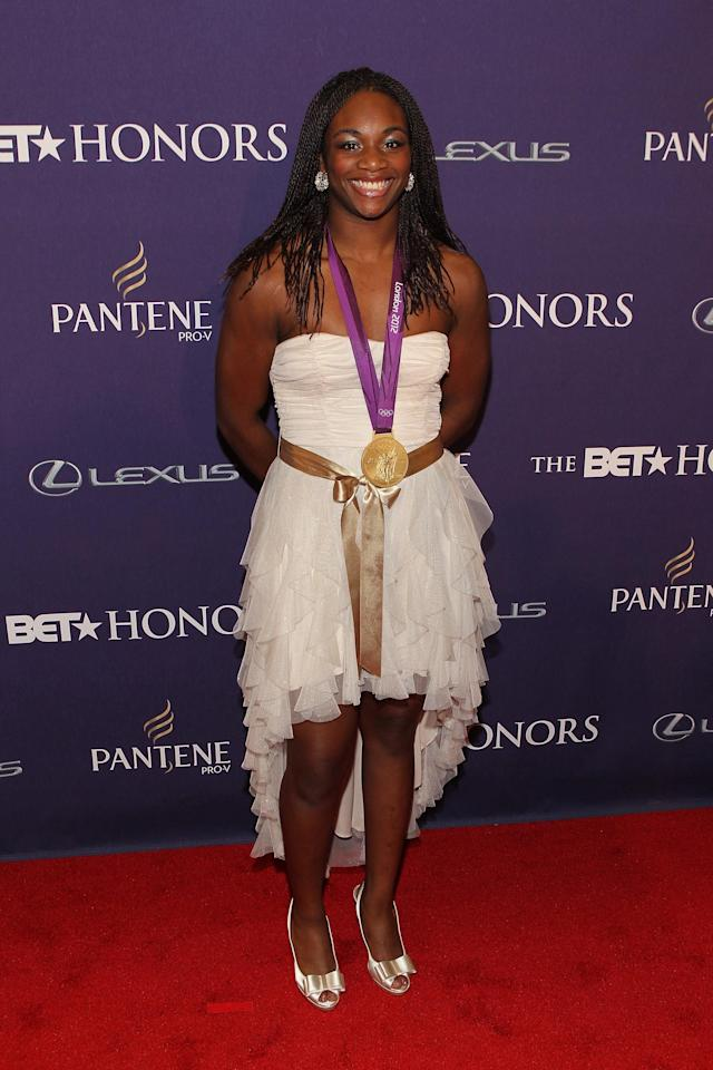WASHINGTON, DC - JANUARY 12: Claressa Shields attends BET Honors 2013: Red Carpet Presented By Pantene at Warner Theatre on January 12, 2013 in Washington, DC. (Photo by Paul Morigi/Getty Images for BET)