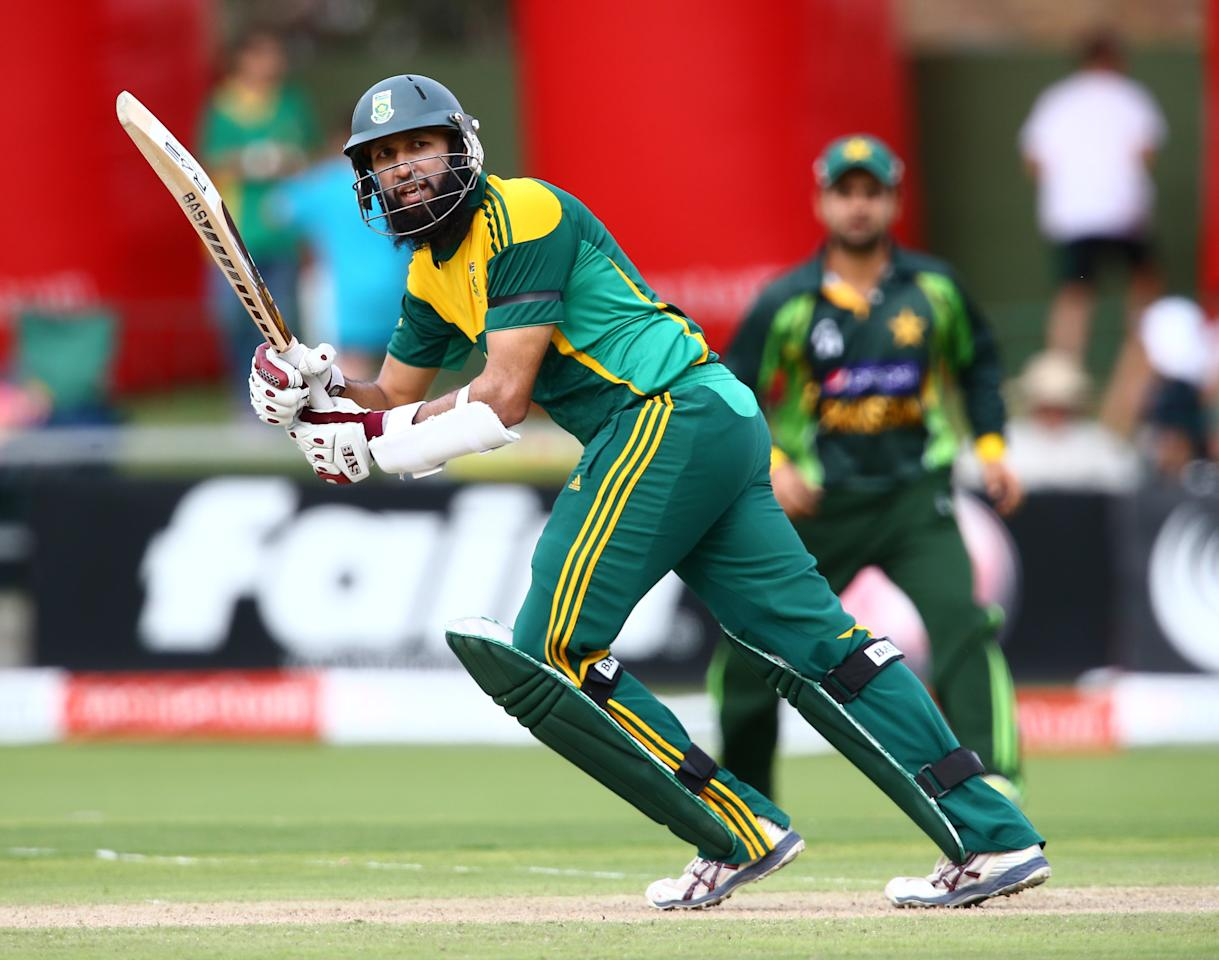 PORT ELIZABETH, SOUTH AFRICA - NOVEMBER 27: Hashim Amla of South Africa in action during the 2nd One Day International match between South Africa and Pakistan at AXXESS St Georges on November 27, 2013 in Port Elizabeth, South Africa. (Photo by Richard Huggard/Gallo Images)