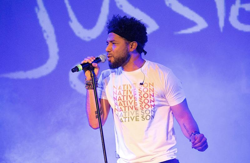 Jussie Smollett, seen here performing in New York in