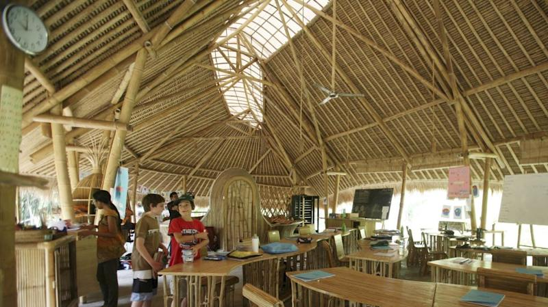 Bamboo architecture at Bali's Green School