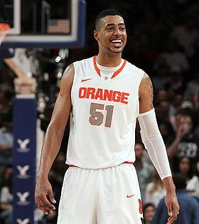 """Coach Jim Boeheim was """"pissed off"""" when he found out Fab Melo was ineligible, said an Orange player. (Jim McIsaac/Getty Images)"""