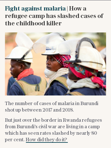 Fight against malaria | How a refugee camp has slashed cases of the childhood killer