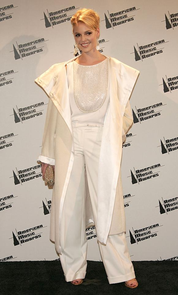 1. 33rd Annual American Music Awards (2005)   In 50 years, this futuristic outfit may be considered fashionable, but in the meantime it's nothing short of a flat-out faux pas.