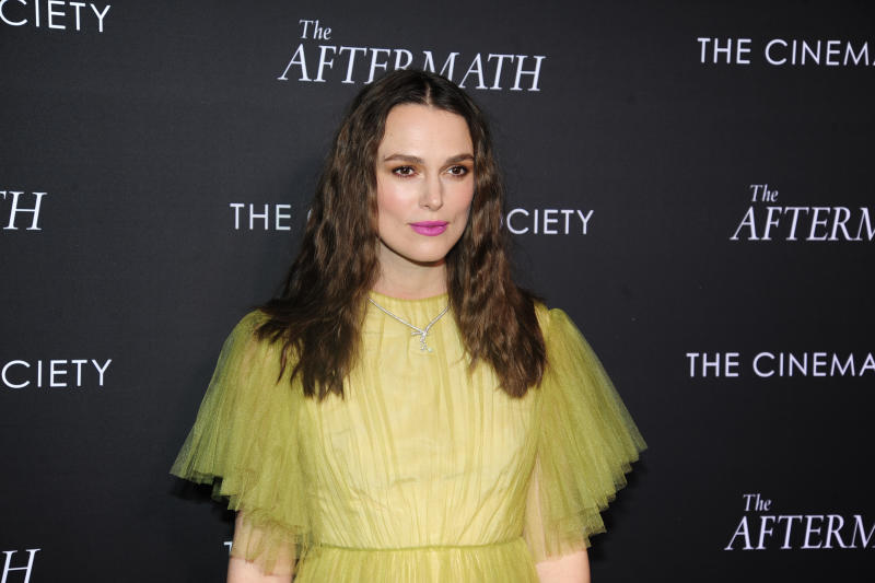 """NEW YORK, NY - MARCH 13: Keira Knightley attends Fox Searchlight Pictures Hosts A Special Screening Of """"The Aftermath"""" at The Whitby Hotel on March 13, 2019 in New York City. (Photo by Paul Bruinooge/Patrick McMullan via Getty Images)"""