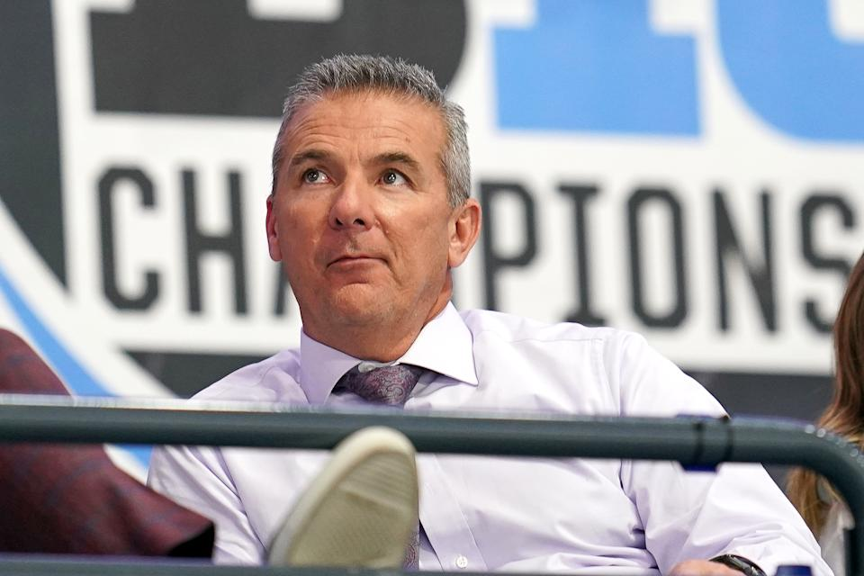 """Balanced"" and ""well-adjusted"" don't describe Urban Meyer's approach to coaching football. (Photo by Robin Alam/Icon Sportswire via Getty Images)"