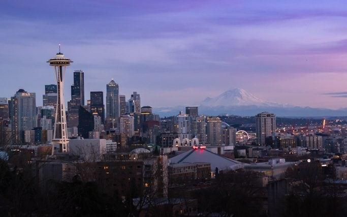A view of the Seattle skyline, as seen from Kerry Park