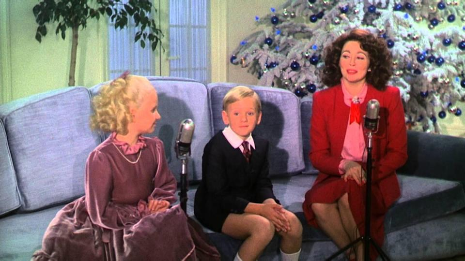 Christmastime at Joan Crawford's home, as seen in Mommie Dearest.