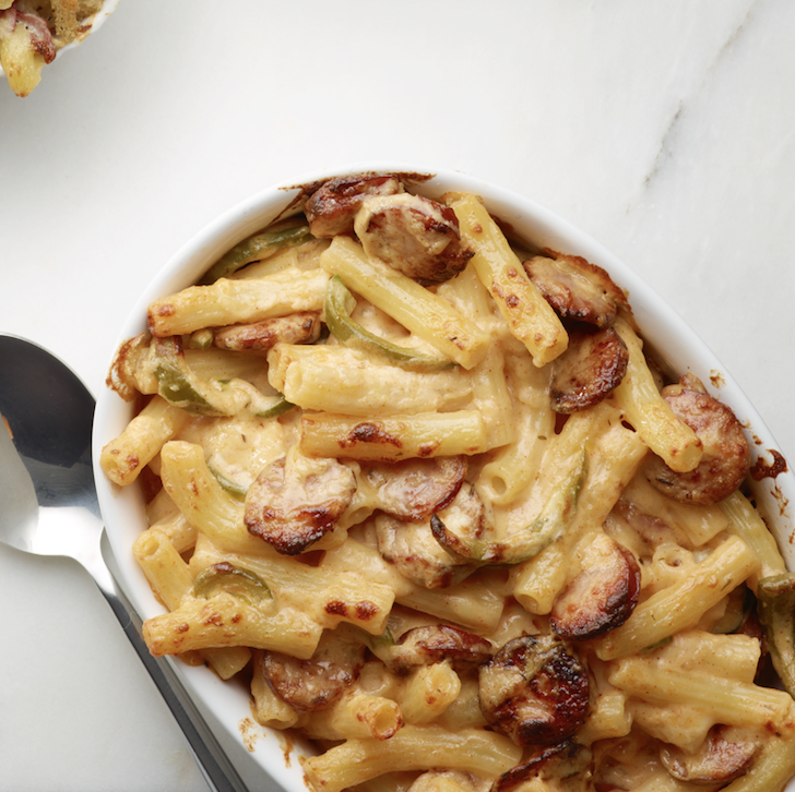 """<p>Sausage makes this cheesy pasta a hearty meal, while green pepper and Cajun seasoning add color and flavor.</p><p><em><a href=""""https://www.goodhousekeeping.com/food-recipes/a14299/cajun-mac-cheese-recipe-wdy1012/"""" rel=""""nofollow noopener"""" target=""""_blank"""" data-ylk=""""slk:Get the recipe for Cajun Mac and Cheese »"""" class=""""link rapid-noclick-resp"""">Get the recipe for Cajun Mac and Cheese »</a></em></p>"""