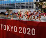 <p>A general view of the men's 50 kilometre walk final at Sapporo Odori Park on day 14 during the 2020 Tokyo Summer Olympic Games in Sapporo, Japan. (Photo By Ramsey Cardy/Sportsfile via Getty Images)</p>