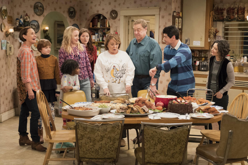 <em>Roseanne </em>was canceled in May by ABC after star Roseanne Barr's much-publicized racist Twitter rant. (Photo: ABC)<br>