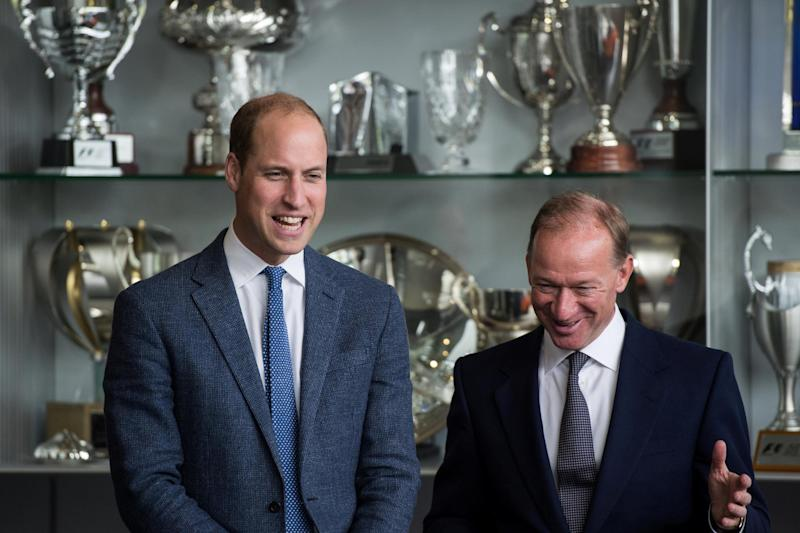 Prince William, left, pictured with McLaren Automative CEO Mike Flewitt (REUTERS)