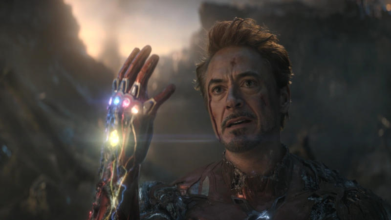 Robert Downey Jr. wields the Infinity Gauntlet in 'Avengers: Endgame'. (Credit: Marvel)