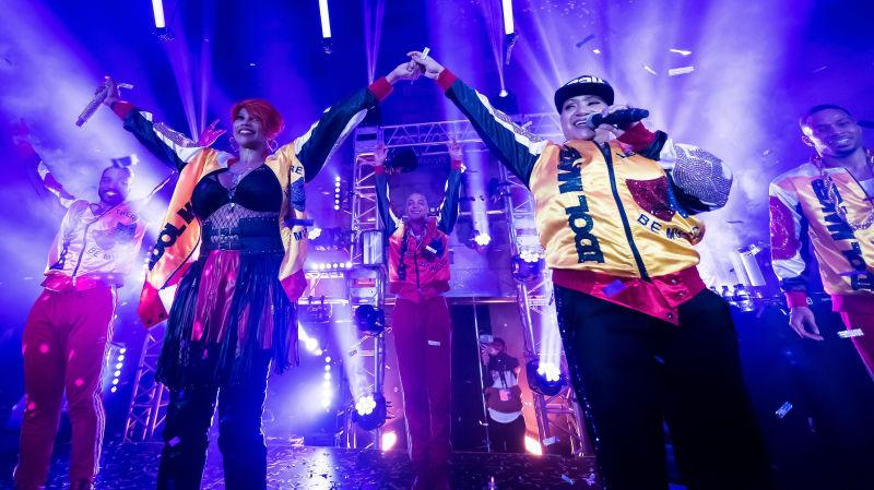Salt-N-Pepa perform during the NGV Gala 2019 on November 30, 2019.