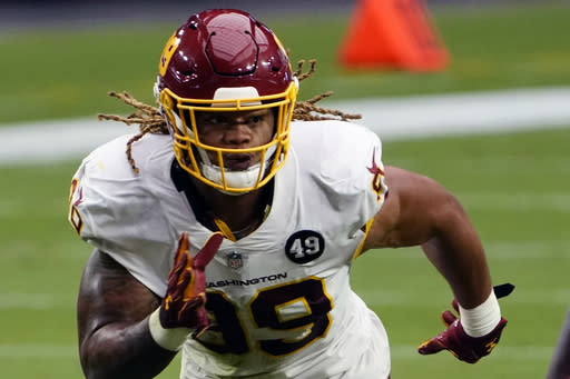 Washington's Young misses practice, may not play vs. Ravens