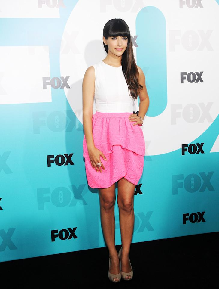 "Hannah Simone (""New Girl"") attends the Fox 2012 Upfronts Post-Show Party on May 14, 2012 in New York City."