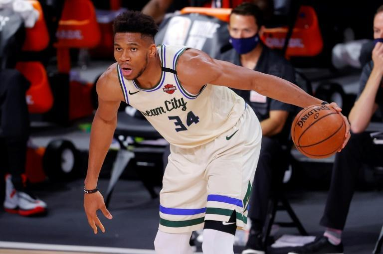"""""""We've got to keep executing at the end of close games,"""" said Giannis Antetokounmpo, who had a big night but saw the Milwaukee Bucks lose 120-116 to the Houston Rockets (AFP Photo/Mike Ehrmann)"""