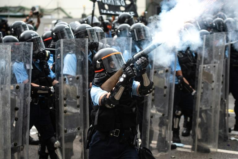 The actions of Hong Kong's officers during the protests have deeply polarised attitudes towards the city's police (AFP Photo/Philip FONG)