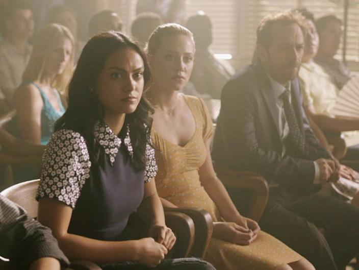 Camila Mendes and Lili Reinhart as Veronica and Betty.
