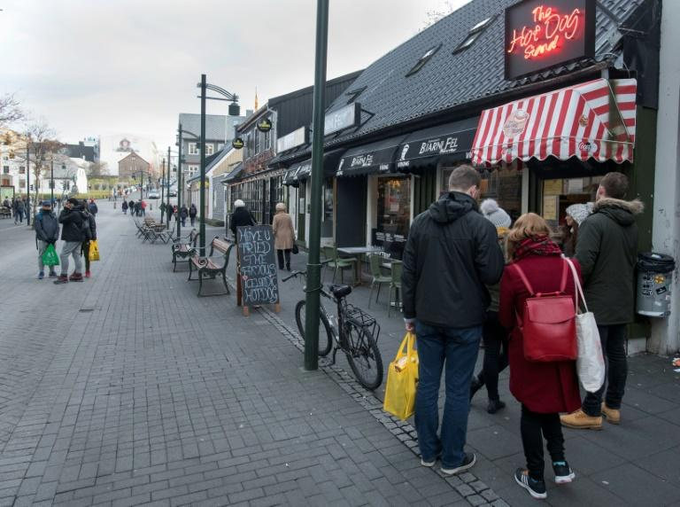 Eating in Reykjavik will set you back handsomely as tourists quickly find out (AFP Photo/Halldor KOLBEINS)