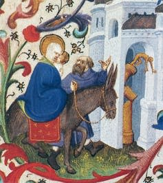 """<span class=""""caption"""">Toppling of the Pagan Idols (Flight into Egypt).</span> <span class=""""attribution""""><span class=""""source"""">Bedford Master</span></span>"""