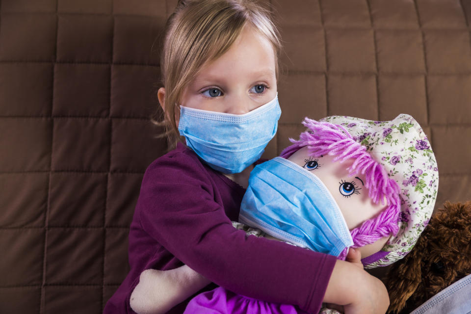 Introducing masks to play can help children get used to them. (Getty Images)