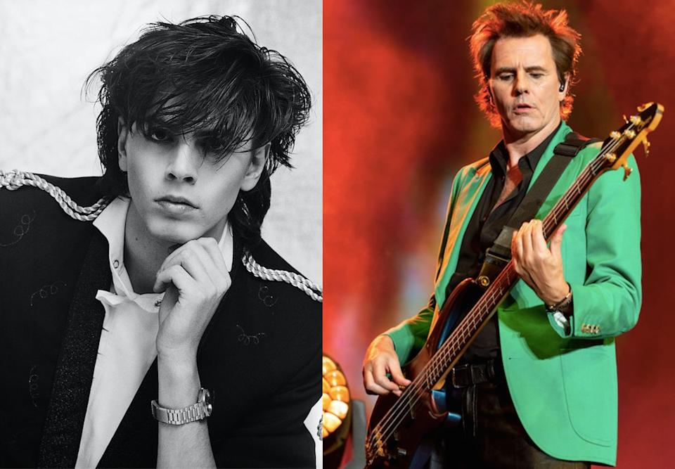 John Taylor was the bassist in Duran Duran, pictured left in 81 and right in 2019. (Getty)