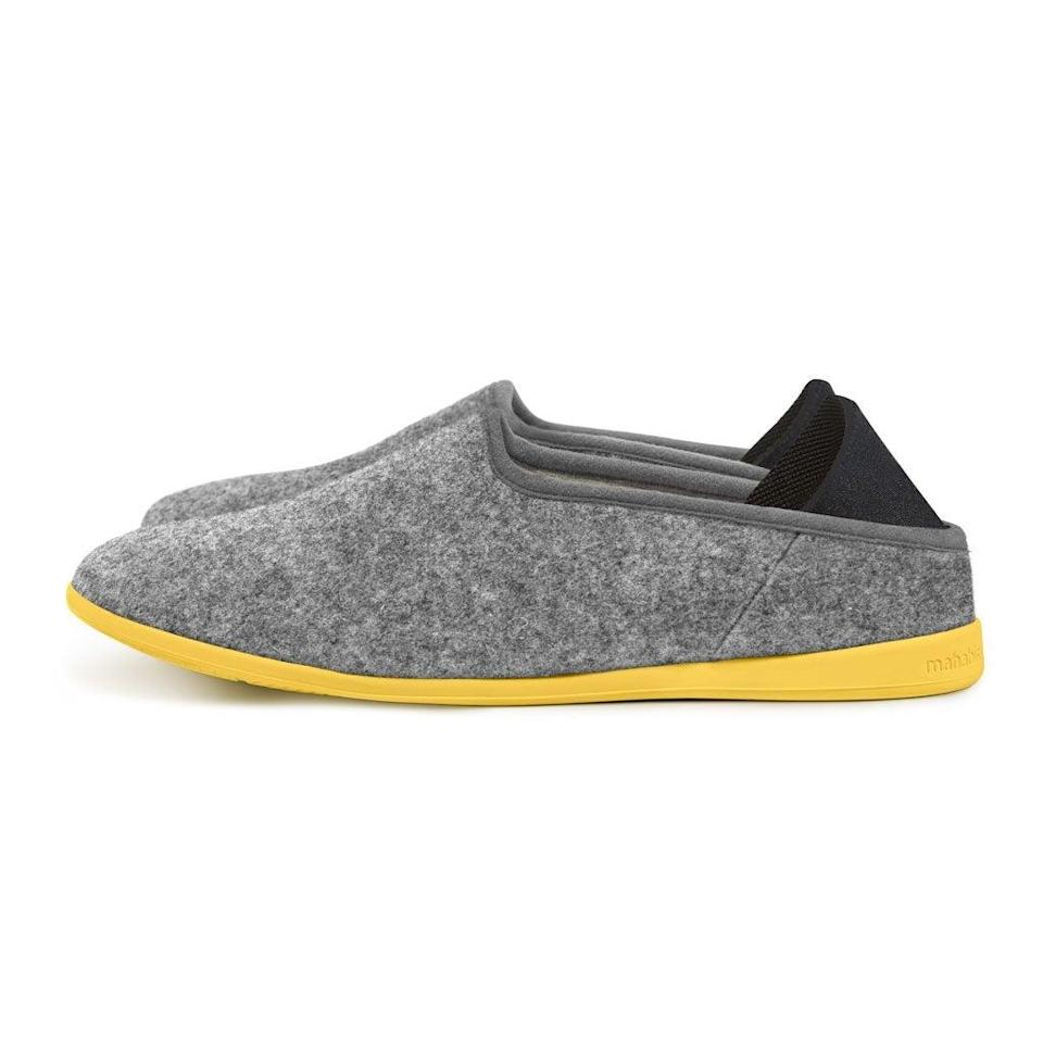 """<h2>Mahabis Classic Slipper</h2><br>With a felt upper, temperature-regulating wool lining, a foam footbed, and a durable sole, these chic gray slip-ons will easily take you from couch to dog walk — all while maintaining a low profile.<br><br><strong>Mahabis</strong> Classic Slipper, $, available at <a href=""""https://go.skimresources.com/?id=30283X879131&url=https%3A%2F%2Fmahabis.com%2Fproducts%2Fclassic-slippers"""" rel=""""nofollow noopener"""" target=""""_blank"""" data-ylk=""""slk:Mahabis"""" class=""""link rapid-noclick-resp"""">Mahabis</a>"""