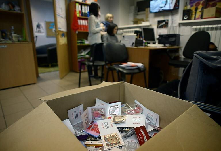 Silver Rosa, Russia's only NGO for sex workers, hands out condoms and provides HIV tests in a country with rising infection rates