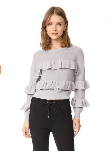 "Original price: $90<br />Sale price: <a href=""https://www.shopbop.com/ruffle-sweater-english-factory/vp/v=1/1505668466.htm?fm=pd_sb_pd_browse_1_bstslr&os=false"" target=""_blank"">$63</a>"