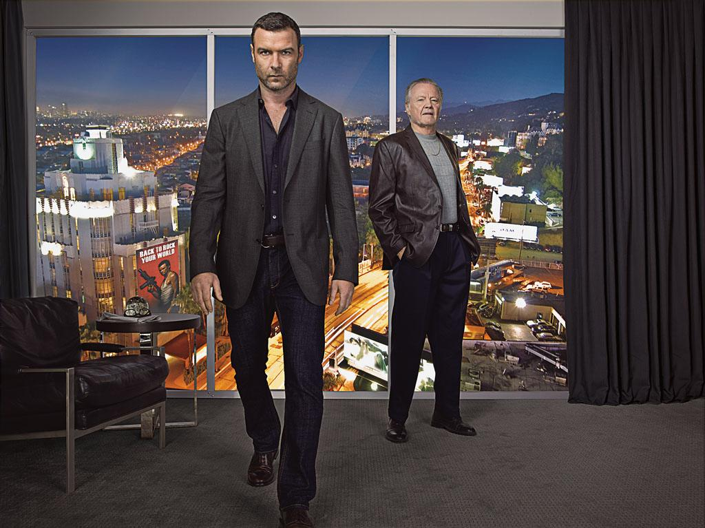 "Liev Schreiber as Ray Donovan and Jon Voight as Mickey Donovan in ""Ray Donovan"" Season 1."