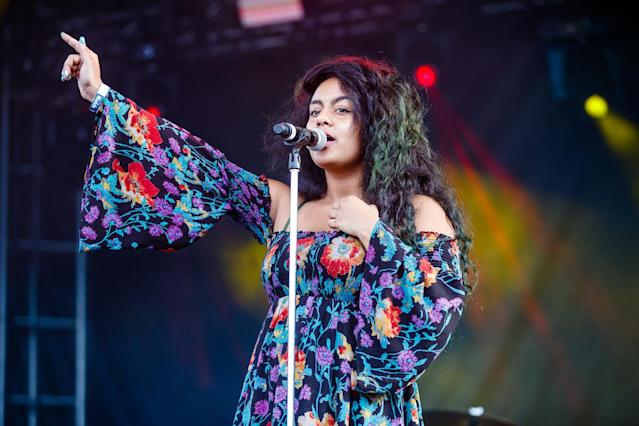 <p>NEW ORLEANS, LA – OCTOBER 27: Bibi Bourelly performs during the Voodoo Music + Arts Experience at City Park on October 27, 2017 in New Orleans, Louisiana. (Photo by Josh Brasted/WireImage) </p>