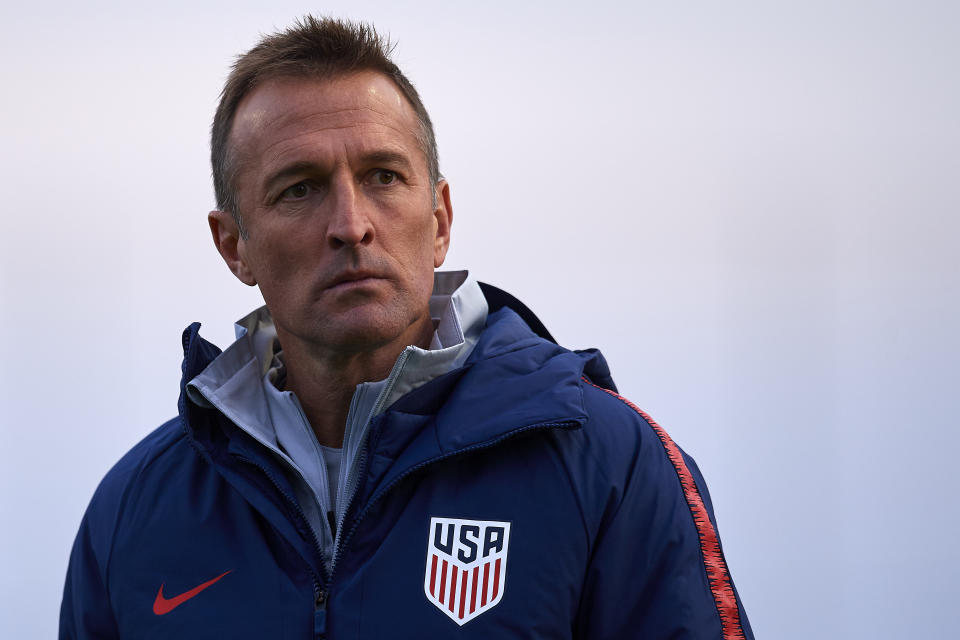 United States under-23 national team coach Jason Kreis is hoping to qualify the Americans for an Olympics for the first time since 2008. (Jose Breton/Getty)