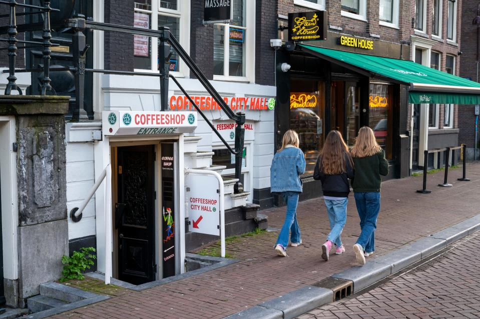 Varios coffee shops en el centro de Ámsterdam, Países Bajos.  (Photo by EVERT ELZINGA/ANP/AFP via Getty Images)
