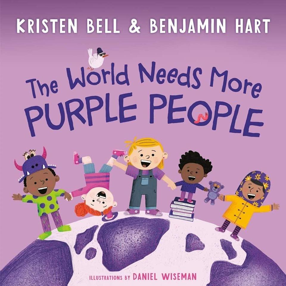 "<p><a href=""https://www.popsugar.com/buy/strong-World-Needs-More-Purple-Peoplestrong-Hardcover-Book-573623?p_name=%3Cstrong%3EThe%20World%20Needs%20More%20Purple%20People%3C%2Fstrong%3E%20Hardcover%20Book&retailer=amazon.com&pid=573623&evar1=moms%3Aus&evar9=47468685&evar98=https%3A%2F%2Fwww.popsugar.com%2Fphoto-gallery%2F47468685%2Fimage%2F47468694%2FPreorder-World-Needs-More-Purple-People&list1=books%2Ckristen%20bell%2Cthe%20ellen%20degeneres%20show%2Ckid%20shopping%2Ckid%20books%20and%20music&prop13=api&pdata=1"" class=""link rapid-noclick-resp"" rel=""nofollow noopener"" target=""_blank"" data-ylk=""slk:The World Needs More Purple People Hardcover Book""><strong>The World Needs More Purple People</strong> Hardcover Book</a> ($13)</p>"
