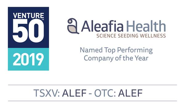 TSX Venture Top Performing Company:Aleafia Health - Learn how we Grow Together