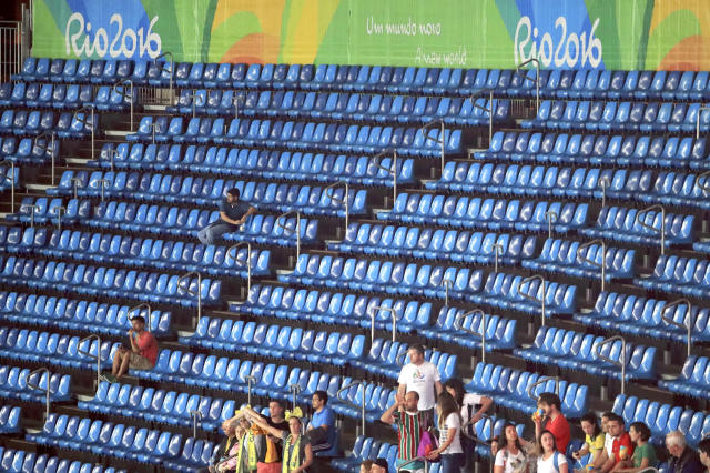 <p>Fans might have been excited about the Games, but the attendance said otherwise. The marquee events had great crowds but large swarths of empty seats were noticeable at many events. Sheesh. Brazil, did you know that an Olympics has been taking place for the past two weeks? (REUTERS/Dominic Ebenbichler) </p>