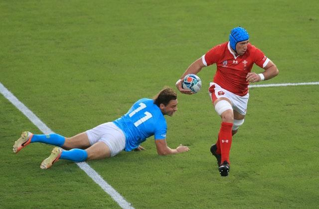 Justin Tipuric captained Wales during the 2019 World Cup group match with Uruguay